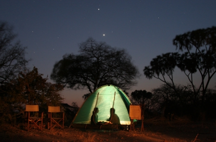 Star domed tents on Walking Safaris